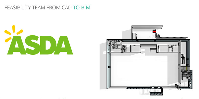 Asda feasibility CAD to BIM journey